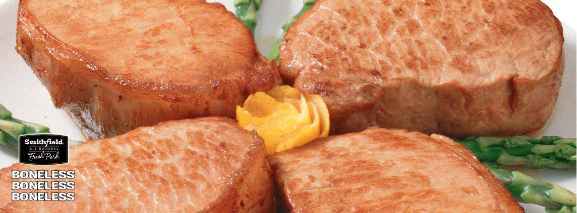 Family Pack Fresh & Natural  Smithfield Boneless Pork Sirloin Steak